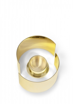 615 infinity candleholder, small, brass 2 h10