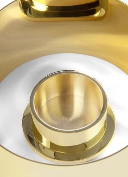 615 infinity candleholder, small, brass 3 h10