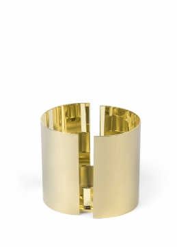 616 infinity candleholder, large, brass 1 h10