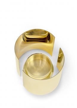 616 infinity candleholder, large, brass 2 h10