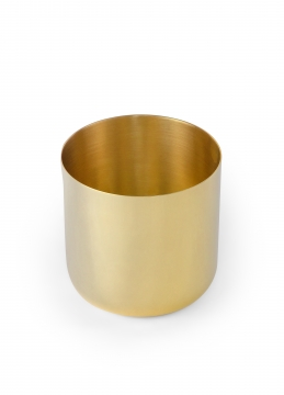 621-s nurture planter, brass, small 2