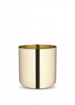 621-l nurture planter, brass, large 1