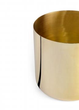 621-l nurture planter, brass, large 3