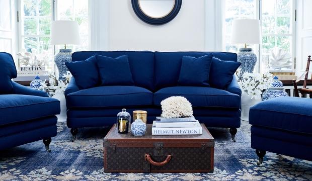 Newport howardsoffa indigo blå 205cm 2