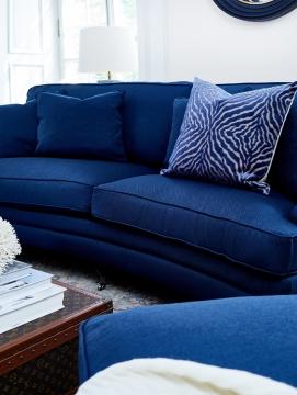Newport howardsoffa indigo blå 205cm 4