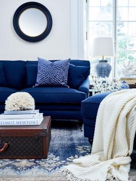 Newport howardsoffa indigo blå 205cm 3