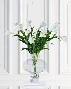 Lilja snittblomma vit 90cm 1