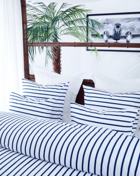 Cap Bénat påslakanset vit/blå 2