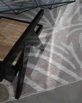 Zebra matta greige/lin 200x300 2