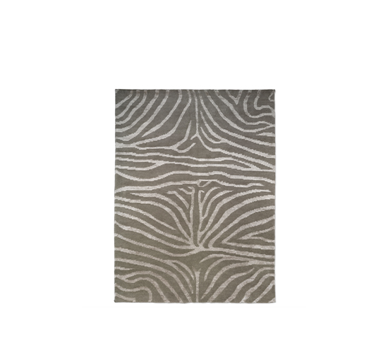 Listbild Zebra matta greige/lin 170x230