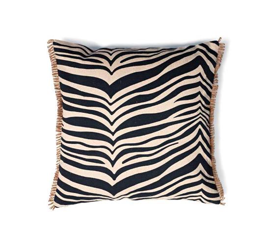 Listbild Zebra kuddfodral svart 50x50