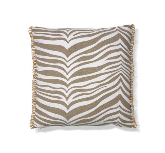 Listbild Zebra kuddfodral beige/brun 50x50