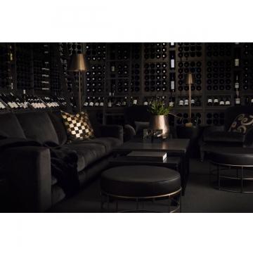 Senna soffa sammet mörkgrå 4-sits 2
