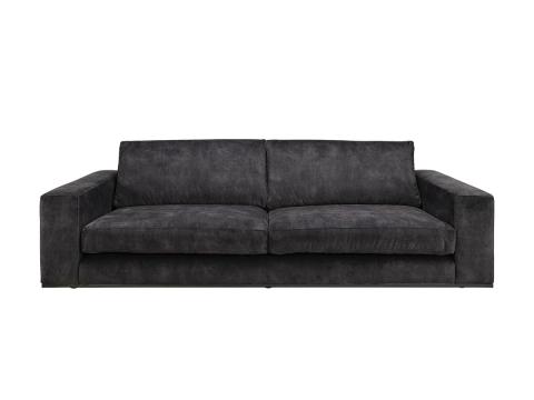 Senna soffa sammet mörkgrå 4-sits 1