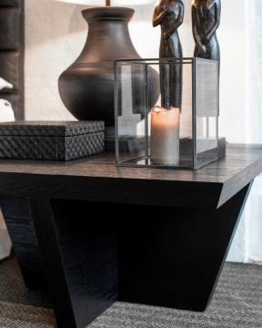Trent soffbord kvadrat svart 2