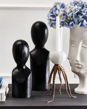 Mesha & Neru träfigurer svart 4