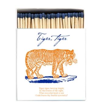 Tiger Tiger tändsticksask vit/blå/orange 1