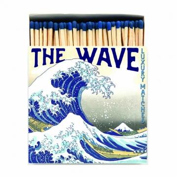 Hokusai Wave tändsticksask blå 1