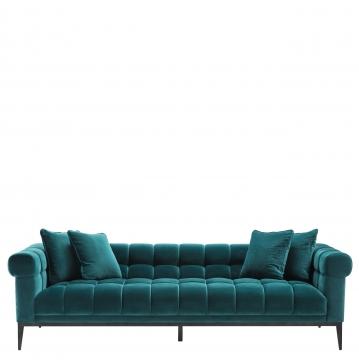 Aurelio soffa sammet savona sea grön 2