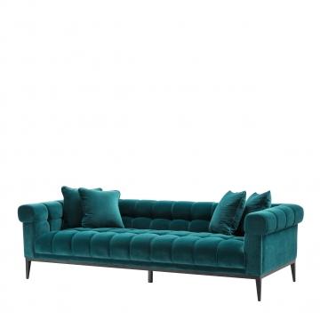 Aurelio soffa sammet savona sea grön 1