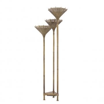 Floor Lamp Kon Tiki Triple vintage brass finish 2