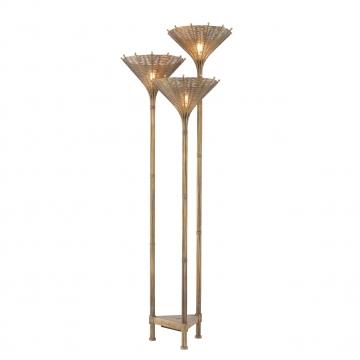 Floor Lamp Kon Tiki Triple vintage brass finish 3