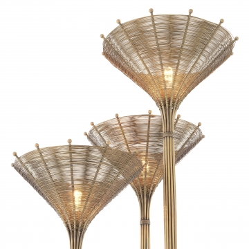 Floor Lamp Kon Tiki Triple vintage brass finish 4