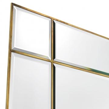 Beaumont spegel med lampor mässing 4
