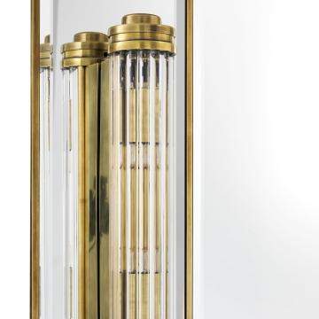 Beaumont spegel med lampor mässing 5