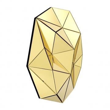 Topanga spegel tredimensionell guld 2