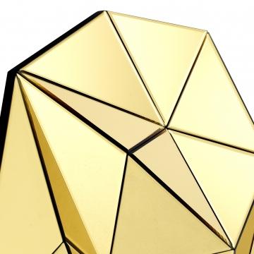 Topanga spegel tredimensionell guld 3