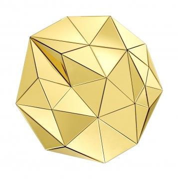Topanga spegel tredimensionell guld 1