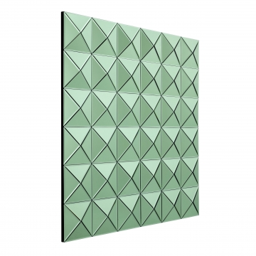 Savoia spegel tredimensionell grön 3