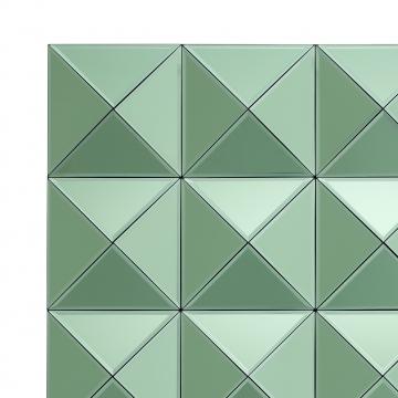 Savoia spegel tredimensionell grön 2