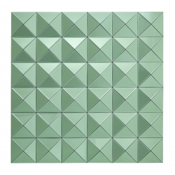 Savoia spegel tredimensionell grön 1
