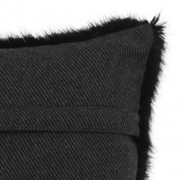 Alaska kuddfodral faux fur svart 40x60 3