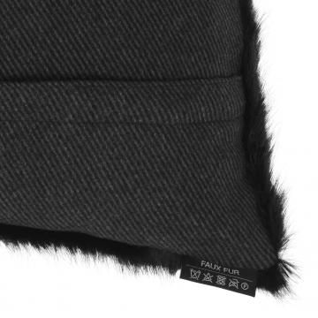 Alaska kuddfodral faux fur svart 40x60 4