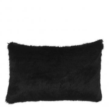 Alaska kuddfodral faux fur svart 40x60 1