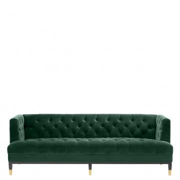 Castelle soffa sammet roche mörkgrön 2