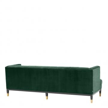 Castelle soffa sammet roche mörkgrön 4