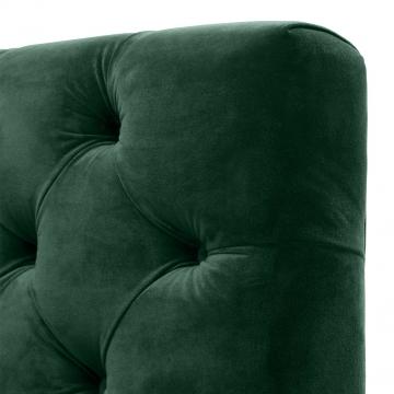 Castelle soffa sammet roche mörkgrön 3