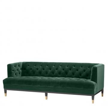 Castelle soffa sammet roche mörkgrön 1