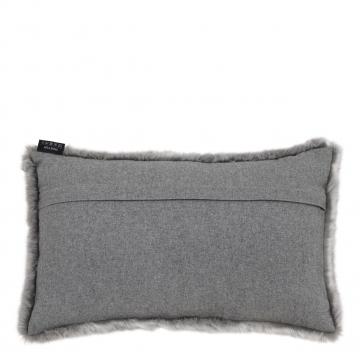 Alaska kuddfodral faux fur grå 40x60 2