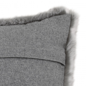 Alaska kuddfodral faux fur grå 40x60 3