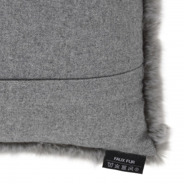Alaska kuddfodral faux fur grå 40x60 4