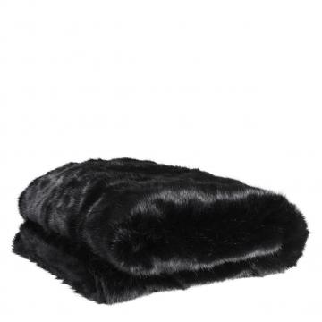 Alaska pläd faux fur svart 1