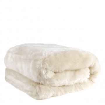 Alaska pläd faux fur snö 1