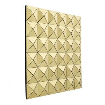 Savoia spegel tredimensionell guld 2