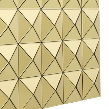 Savoia spegel tredimensionell guld 3