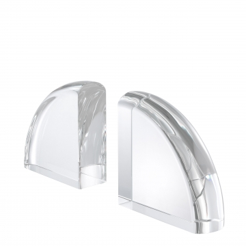 Bookend Decorage set of 2 crystal 3